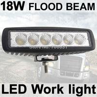 Fog light 6 inch 18W LED Work Light Bar Flood Driving Lamp Off Road 4WD