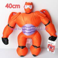 40cm Hot Sale High Quality Red Big Hero 6 Baymax Stuffed Plush Robot Doll Baby Classic Toys Free Shipping
