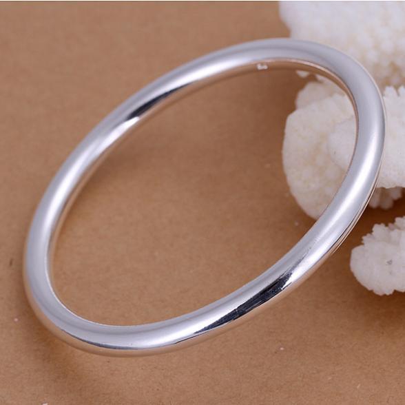 Fashion Items plate 925 silver Bangle Bracelet Jewelry Wholesale for women 3mm diameter 7cm(China (Mainland))