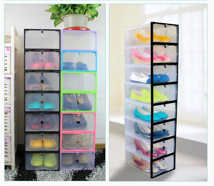 Shoebox Shoe Storage Porta sapatos shoe Cabinet Rack Sapateira Plastic rack Organizador Home storage Box shoe Hanger(China (Mainland))