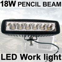 1X18W Fog light 6 inch 18W LED Work Light Bar Spot pencil Driving Lamp Off Road 4WD