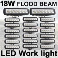 20X18W Fog light 6 inch 18W LED Work Light Bar Flood Driving Lamp Off Road 4WD