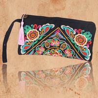 2014 New casua Women Wallet Embroider Purse Clutch Mobile Phone Bag Coin Bag wallets carteira feminina bolsos monederos mujer