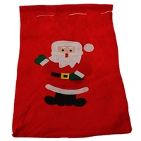 10pc/lot New Year Christmas Velvet Gifts Bag Claus Big Red Santa Santa Claus Candy Bag Home XMAS Decorations 30cm*40cm FK870799