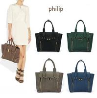 2015 European and American wild handbags shoulder bag embarrassing double gold zipper