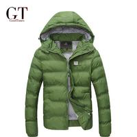 New 2014 men Parka keep warm Men's coat Winter overcoat Outwear Winter jacket hooded thick fur jackets outdoor Plus Size GT35