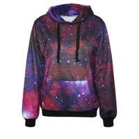New Womens Hoodie Galaxy Nebula Sweater Winter Coat Printed 3D Tops Long Sleeve Pullover Causal Sweatshirts