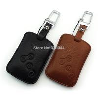 High quality Genuine Leather key Case for RENAULT TALISMAN LACUNA MEGANE LATITUDE SCENIC FLUENCE KOLEOS key wallet