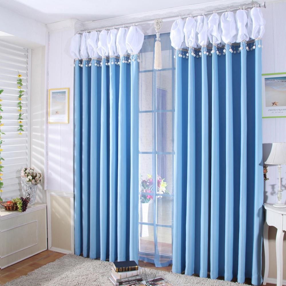 Acquista all 39 ingrosso online blu tende camera da letto da for Cortinas azules para salon