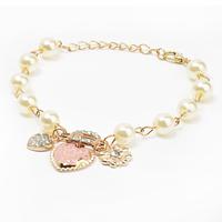 New Arrivals Jewelry,Korean style Heart flower letter D pendant Charm Bracelet