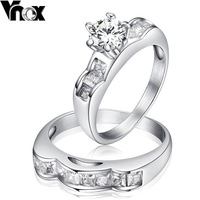 2014 new Austrian crystal wedding ring gift for women 2pcs set CZ stone jewelry