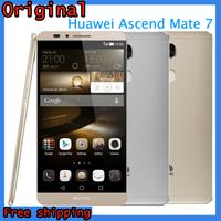 "Huawei Ascend Mate7 4G FDD-LET Phone 6"" FHD Display Octacore1.8GHz Kirin925 3G+32G 13MP Camera 4100mAh battery Free Shipping"
