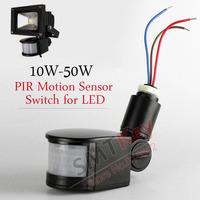 PIR Motion Sensor for LED 10W-50W 12V PIR Body motion sensor Detector for Led Floodlight switch