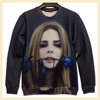 Fashion Streetwear sweater for women and man  autumn winter women sexy red roses  flower hoody sweat shirt 3d Long T-shirt  A172