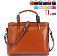 Famous Brand New Women Handbag Genuine Leather Bag Oil Wax Cow Real Leather Shoulder Bags Fashion Women Messenger Bag Bolsas