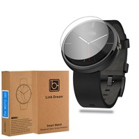Hardness Tempered Glass Screen Protector for Motorola Moto 360 Guard front Cover Film with Retail Packaging Free Shipping