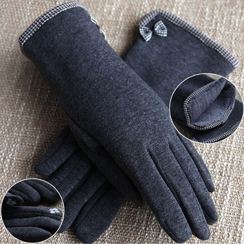 Winter Wärme pelzmode frauen weichen wolle handschuhe Verdickung halten erwärmung retro edle mädchen handschuhe weibliche Luxus königlichen handschuhe