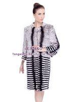 BG80160 Fashion High Quality Real Rabbit Fur Coat Long Style Women Winter Clothes Big Yards Free Shipping