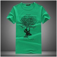 2014 fashion slim men short sleeve t shirt drop dead bape printing specials casual-shirts