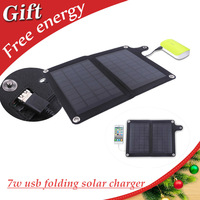7W portable Foldable solar panel charger  with inner voltage controller for smart phones,iphone,power bank,3.7V battery directly