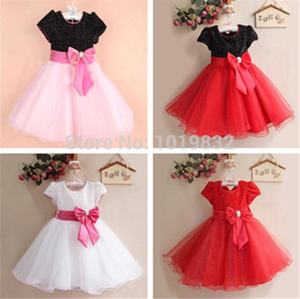 Dresses girl fancy elegant frock peagant party dresses kids clothes