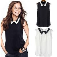 Feitong  Women Summer Loose Casual Chiffon Sleeveless Vest Blouse Shirt Tops New Free Shipping&Wholesales