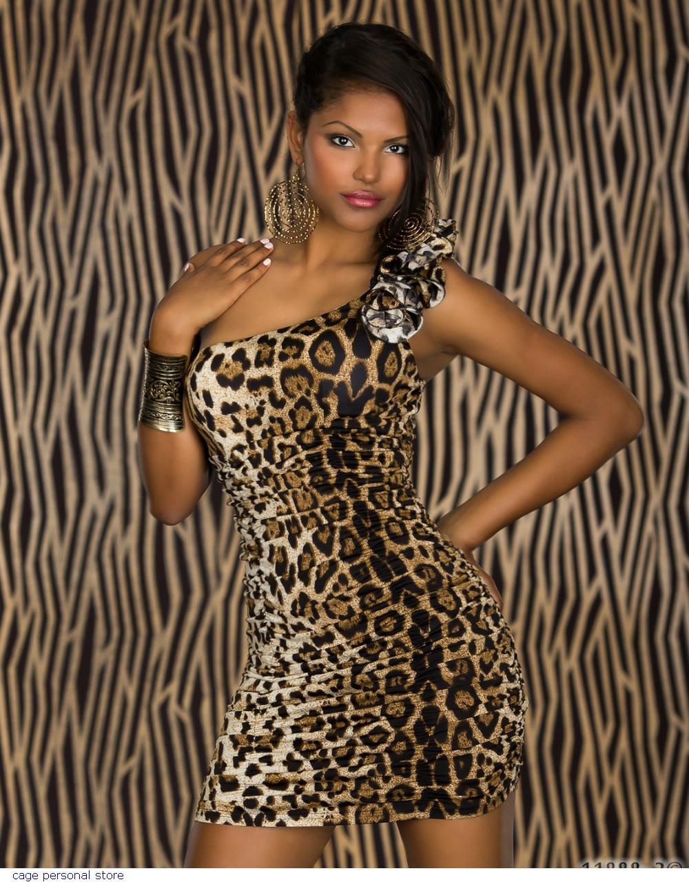 Макияж фото для леопардового платья