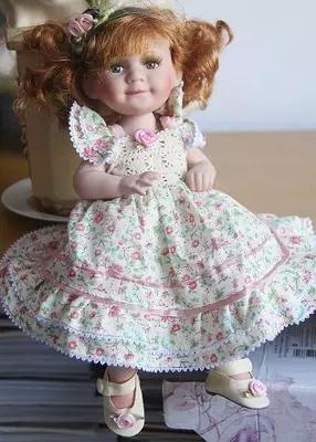 Hot 12 polegada / 30 cm realista bonecas nobre e elegante do bebê do bebê cerâmica menina boneca com vestido rosa bonita impressão pequenas flores presente(China (Mainland))