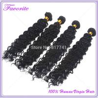 4pcs/Lot Ali Favorite Hair Peruvian Virgin Hair Weaves Deep Wave Peruvian Virgin Hair Extension,Unprocessed Human Hair Bundles