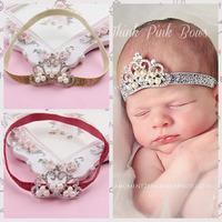 Hot Sale Lasted Baby Headband Girl Hair Accessories Infant Kids Crown Crystal Headband Elastic Hair Band 5pcs/lot TS-14116