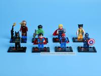 8pcs Super Heroes Avengers Minifigure Building Blocks Brick Toy Captain America Batman Thor Iron Super Man Compatible With Lego