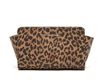 AC454 Modern Fashion leopard PU day clutch Cosmetic MakeUp Organizer Storage Bag for women lady GIRL