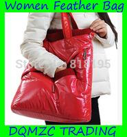 2014 new arrival fashion thickening women feather handbag mzc-wb1003 Free shipping!