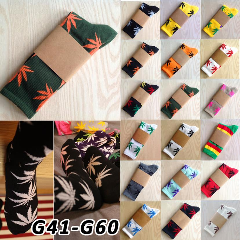 Calcetines Weed marijuana style knee high socks Meias femininas Masculinas Leaf Printed Pattern Cotton Women boot long socks G41(China (Mainland))