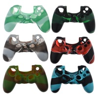 6 Colors Camouflage Soft Silicone Skin Case for Playstation 4 PS4 Controller