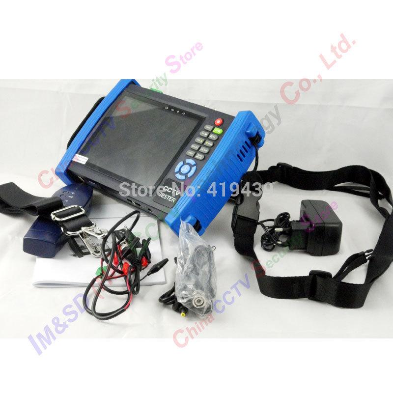 "7"" IP CCTV Touch tester IP camera analog cameras testing PTZ POE cable scan analog cameras Optial fiber power meter+TDR(China (Mainland))"