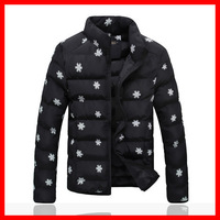 Winter Men's  Stand Collar  Snow  Printing Wadded Jacket  , Men's Thickening  Cotton Padded Jacket Outerwear ,SIZE  S-3XL ,G2975