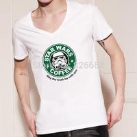 Famous Star Wars t shirt Logo Design Print Master Funny Tee Techno Headphones Fashion Star Wars Men t-shirt