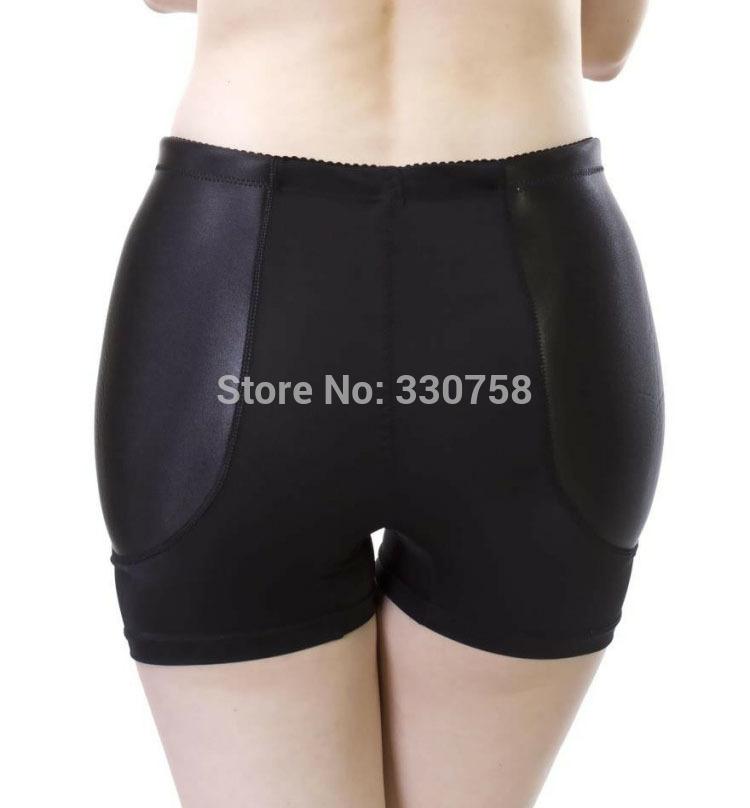 Women's Fixed Padded Fake Hip Panties Medium Waist Boyshorts Traceless Anti Emptied Knickers Underpants Lingerie Only Plump Hip(China (Mainland))