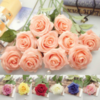 (10 pieces/lot) Artificial Flowers Pu Real Touch Decorative Rose Lifelike For Wedding Home Decoration