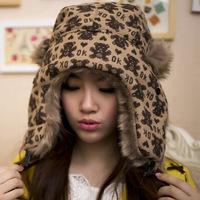 2014 Female Korean Winter Loverly Warm Thicker Cartoon Bear Ear Bomber Hats Caps