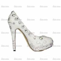 2015 New Arrival Handmade Crystal Rhinestone Pump High Heel Ankle Strap High Up Platforms Open Toe Summer Women High Heel Shoes