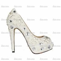 Promotion Custom Handmade Crystal Rhinestone Pumps Size 10 Tpr Synthetic Casual Heel Shoes Woman Platform Big Size 34-40