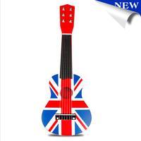 New Wooden Flag Design Child Children Toy Guitar Small Kid Guitar Children Ideal Birthday Gift Free shipping