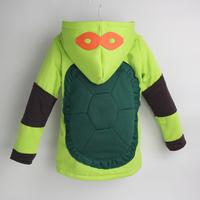 New 2014 boy coat kids ninja turtles jacket outerwear for children cartoon long sleeve hooded coat children jackets