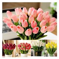 24pcs/lot PU Tulip Artificial Flowers Wedding Home Decorative Flowers Home Decoration Flower(no vase)