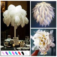 New 10PCS Ostrich Feather Wedding Home Costume Makeup Party Decor Optional Color 30-35CM