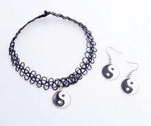 New fashion jewelry Stretch Fishing Line Tattoo choker The eight trigrams Yin yang Tai Chi pendant