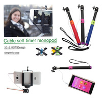 Tracking Number Moblie Phone Audio Cable Take Pole Selfie Stick as Bluetooth Entendable Handheld Monopod Tripod For  Smart Phone