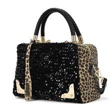 Hillsionly  2014 Women Sequin Leopard Messenger Cross Shoulder Bag Handbag HandBag